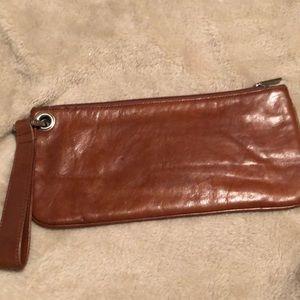 Hobo Brown Wristlet